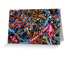 Colorful Woven Friendship Bracelets Greeting Card