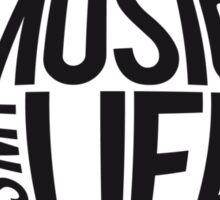 Music is my Life Cool Logo Design Sticker