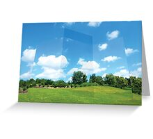 3D Fields of Sky Greeting Card