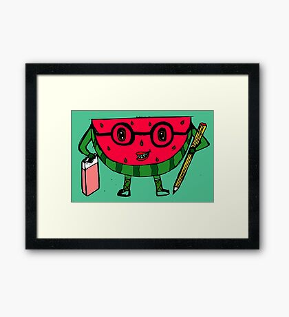 Watermelon geek Framed Print