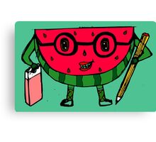 Watermelon geek Canvas Print