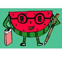 Watermelon geek Photographic Print