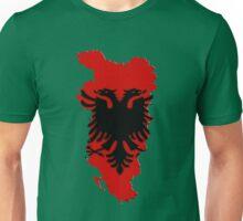 Albania Map With Albanian Flag Unisex T-Shirt