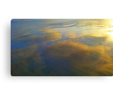 reflected beach sunset Canvas Print