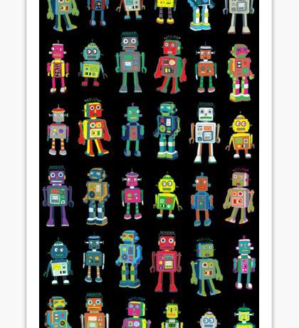 Robot Line-up on Black Sticker