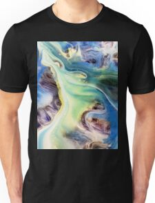 Island Abstract Watercolor Painting Unisex T-Shirt