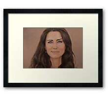 Catherine, Duchess of Cambridge Framed Print