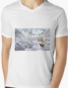 Up There Mens V-Neck T-Shirt