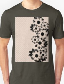 Polka Dots and Flowers Unisex T-Shirt