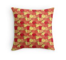 Red and Yellow Apple Seamless Pattern Throw Pillow
