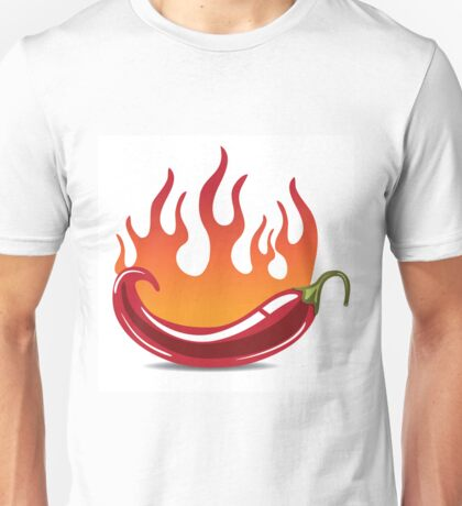 Flaming hot pepper Unisex T-Shirt