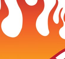 Flaming hot pepper Sticker