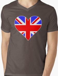 LOVE BRITAIN Mens V-Neck T-Shirt