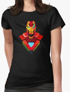 GRAPHIC IRON MAN Womens Fitted T-Shirt