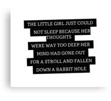 Wonderland Quote Canvas Print