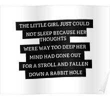 Wonderland Quote Poster