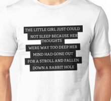 Wonderland Quote Unisex T-Shirt