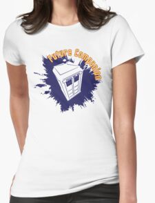 Doctor Who: Future Companion with TARDIS  Womens Fitted T-Shirt