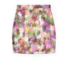 Abstract Peach Paint Splatter Mini Skirt