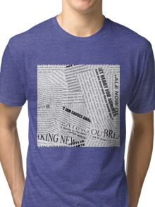 Newspaper Tri-blend T-Shirt