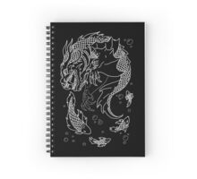 Sea Dragon -- Uncolored Spiral Notebook