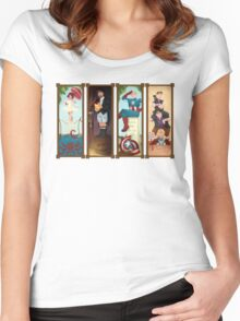 Avengers Stretching Portraits Women's Fitted Scoop T-Shirt