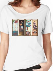 Avengers Stretching Portraits Women's Relaxed Fit T-Shirt