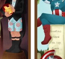 Avengers Stretching Portraits Sticker