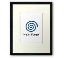 Never Forget: Dreamcast Framed Print