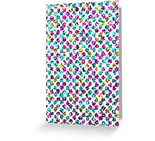 Abstract Floral Spots Greeting Card