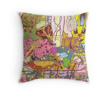 Easter Grissle Throw Pillow