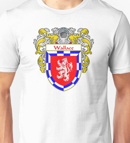 Wallace Coat of Arms / Wallace Family Crest Unisex T-Shirt