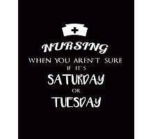 Nursing funny quotes vintage graphics Photographic Print