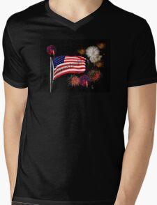 God Bless America! Mens V-Neck T-Shirt