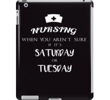 Nursing funny quotes vintage graphics iPad Case/Skin