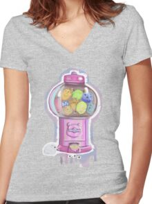 HamsterCandyMachine Women's Fitted V-Neck T-Shirt