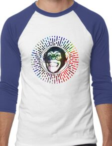 Rainbow colored Monkey / Philip DeFranco Show Logo Men's Baseball ¾ T-Shirt