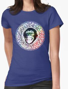 Rainbow colored Monkey / Philip DeFranco Show Logo Womens Fitted T-Shirt