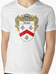 Walsh Coat of Arms / Walsh Family Crest Mens V-Neck T-Shirt