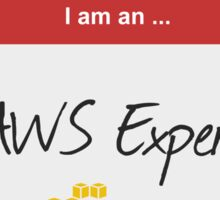 Hello I'm an AWS Expert! Sticker