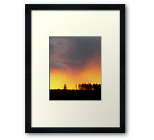 Minera Sunset Framed Print