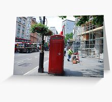Iconic - Red Telephone Box London Greeting Card