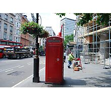 Iconic - Red Telephone Box London Photographic Print