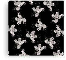 Black and White Flower Tile Canvas Print