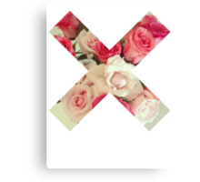 Flower Cross Canvas Print