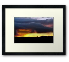 Minera Sunset 2 Framed Print