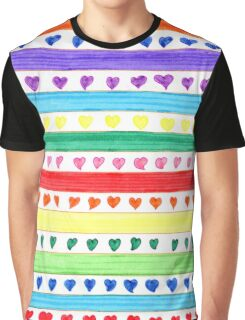 LOVE STRIPES Graphic T-Shirt
