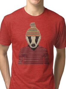 Seb the badger  Tri-blend T-Shirt