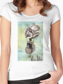 Flotilla - Trejean & Octopus Women's Fitted Scoop T-Shirt