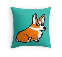 Sitting Corgi Throw Pillow